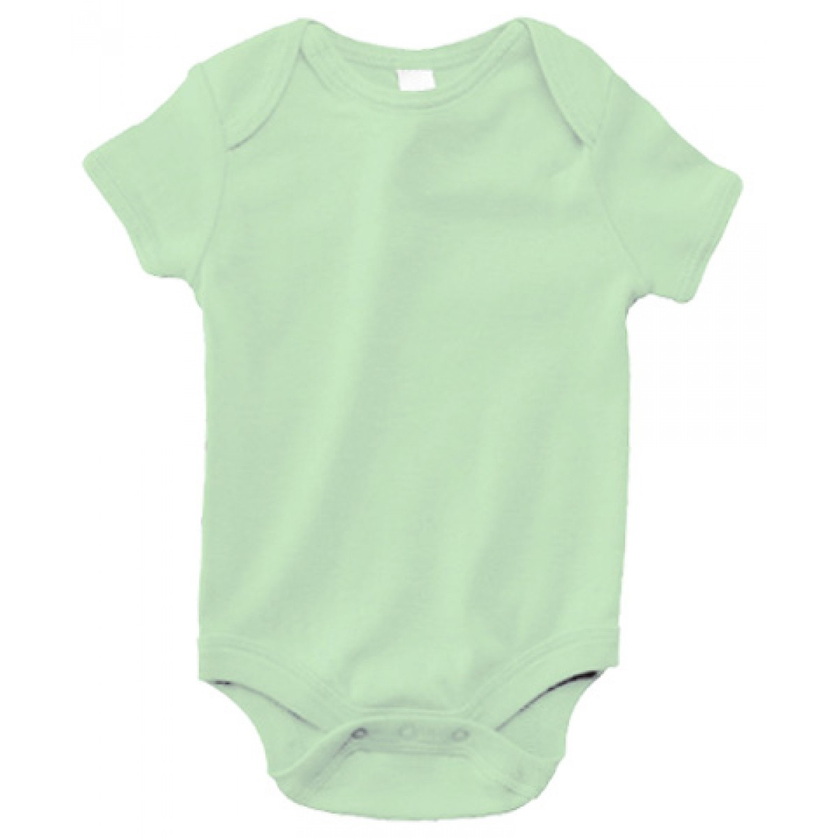 Pale Green B100 Bella + Canvas Infants'Short-Sleeve Baby -Pale Green-3-6 Months
