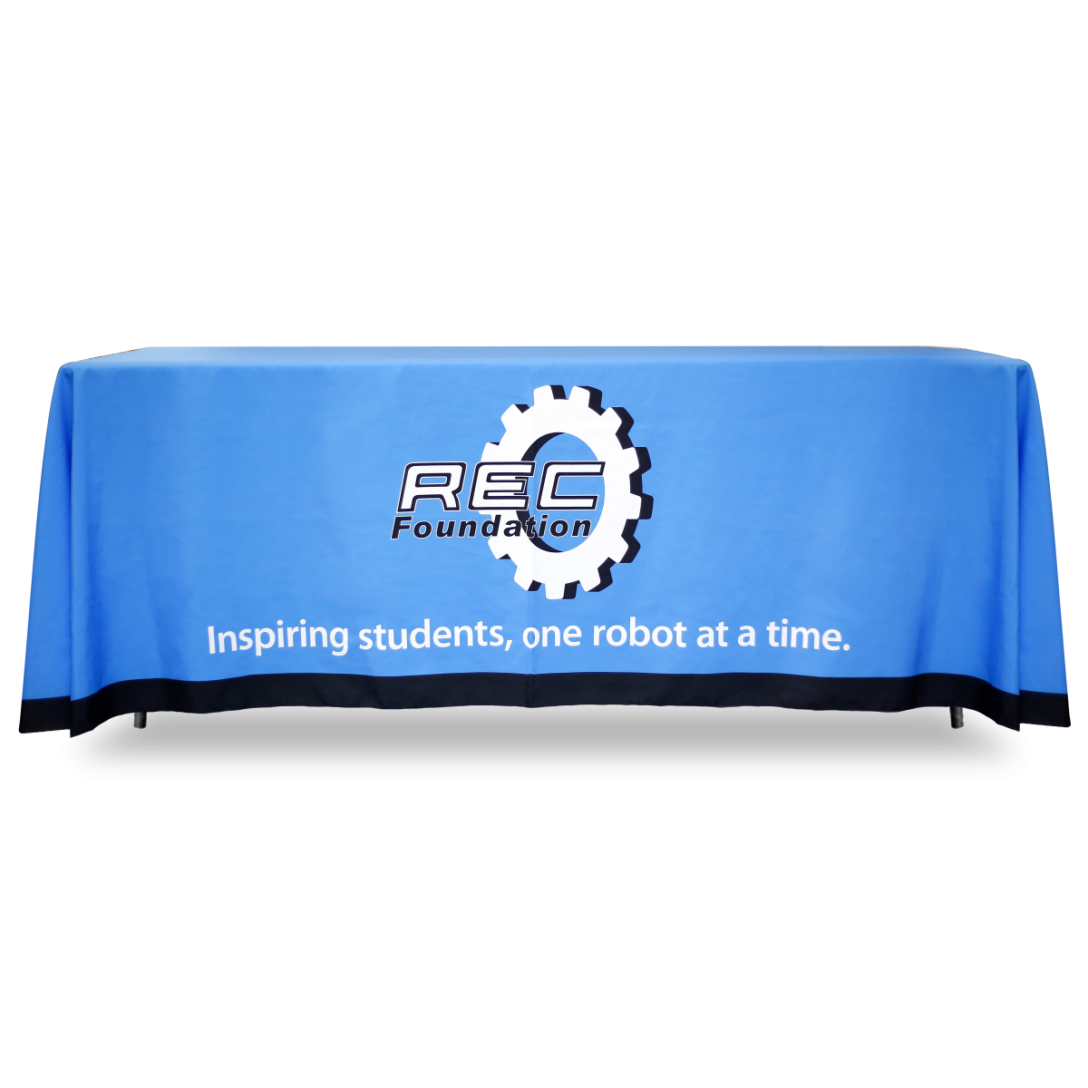 REC Foundation Table Covers -Blue-8'