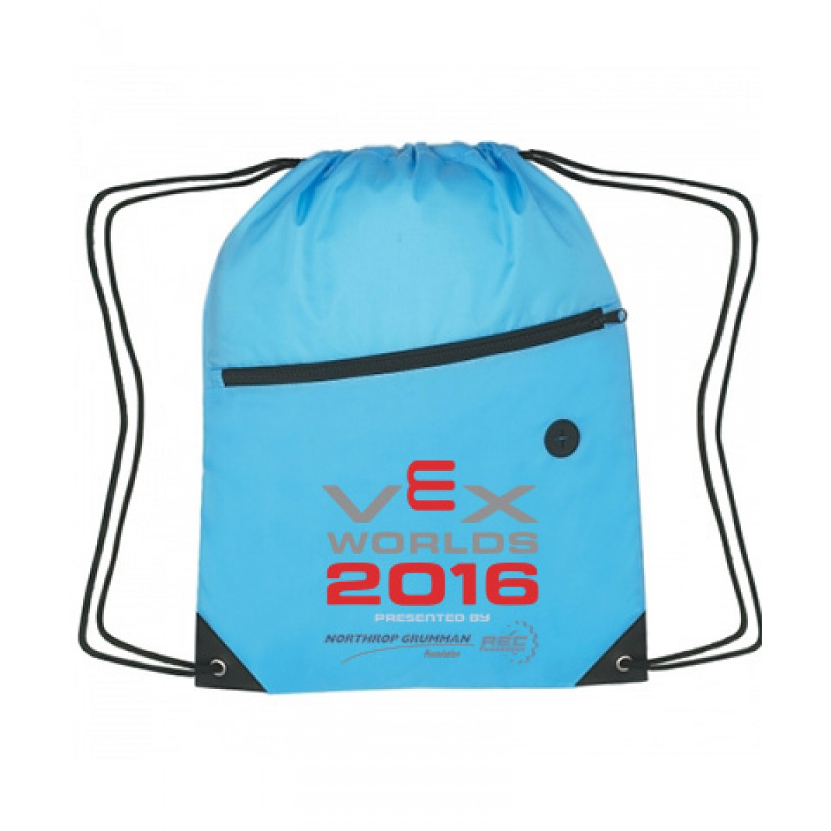 """Sports Pack With Front Zipper - 13.5"""" x 18""""-Blue"""