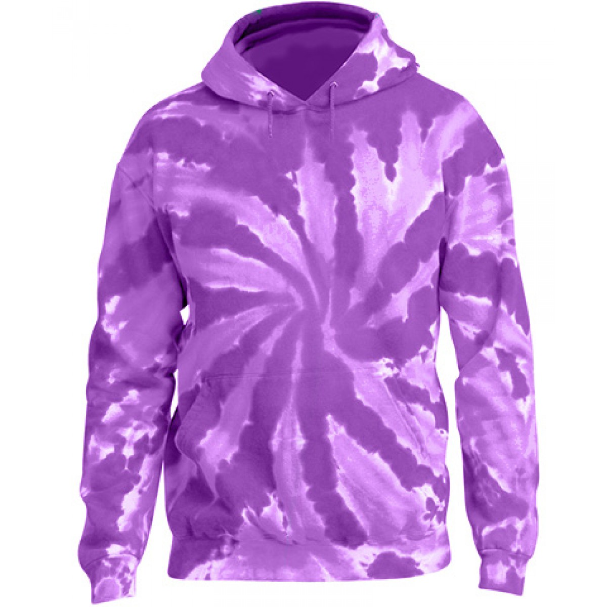Tie-Dye Pullover Hooded Sweatshirt-Berry Purple-YL