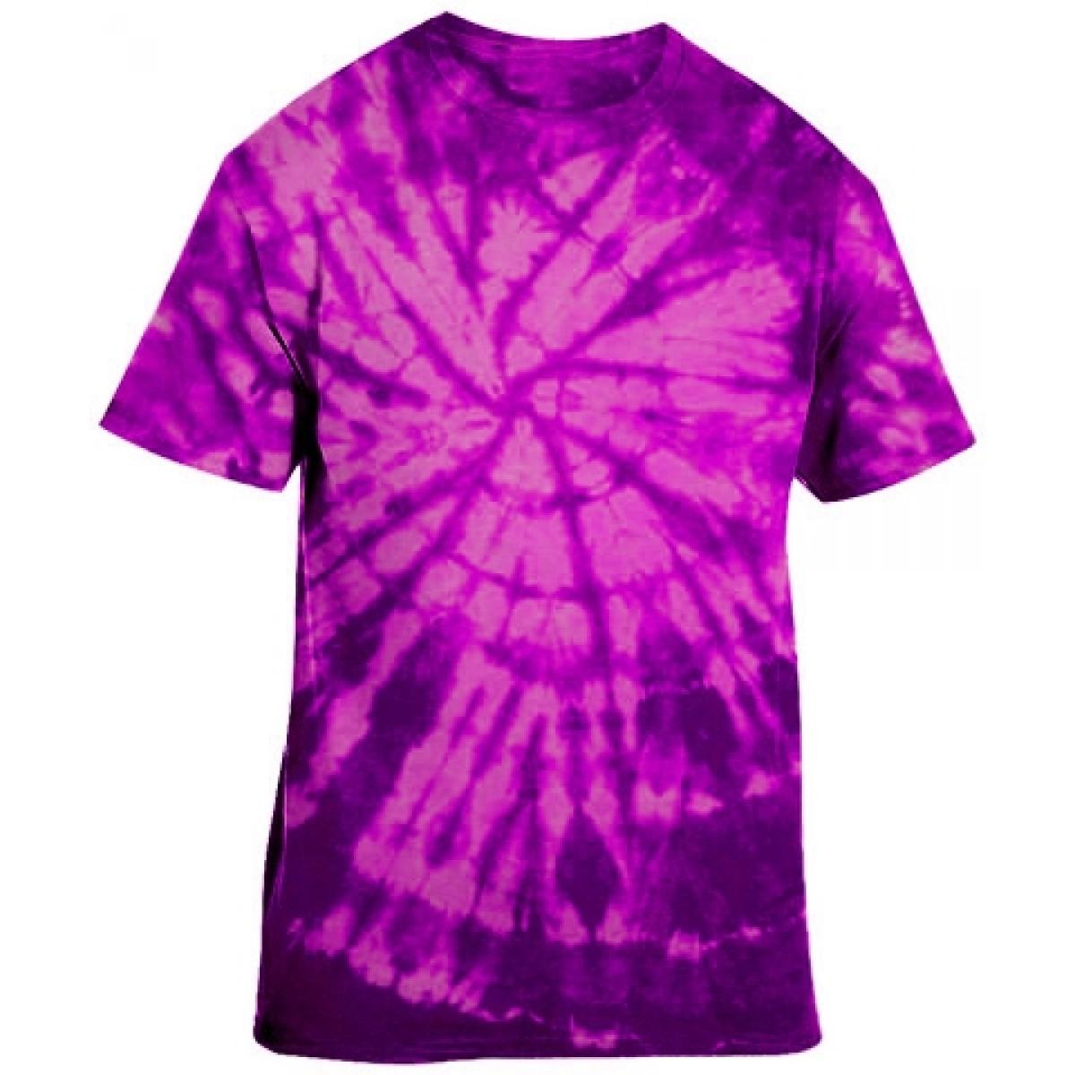 Essential Tie-Dye Tee-Berry Purple-YS