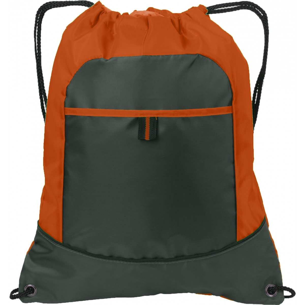 Port Authority® Pocket Cinch Pack-Orange