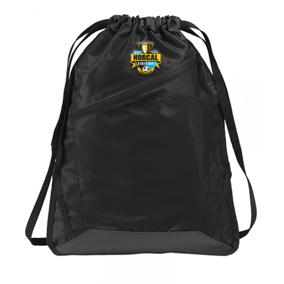 Embroidered Port Authority Zip-It Cinch Pack-Black