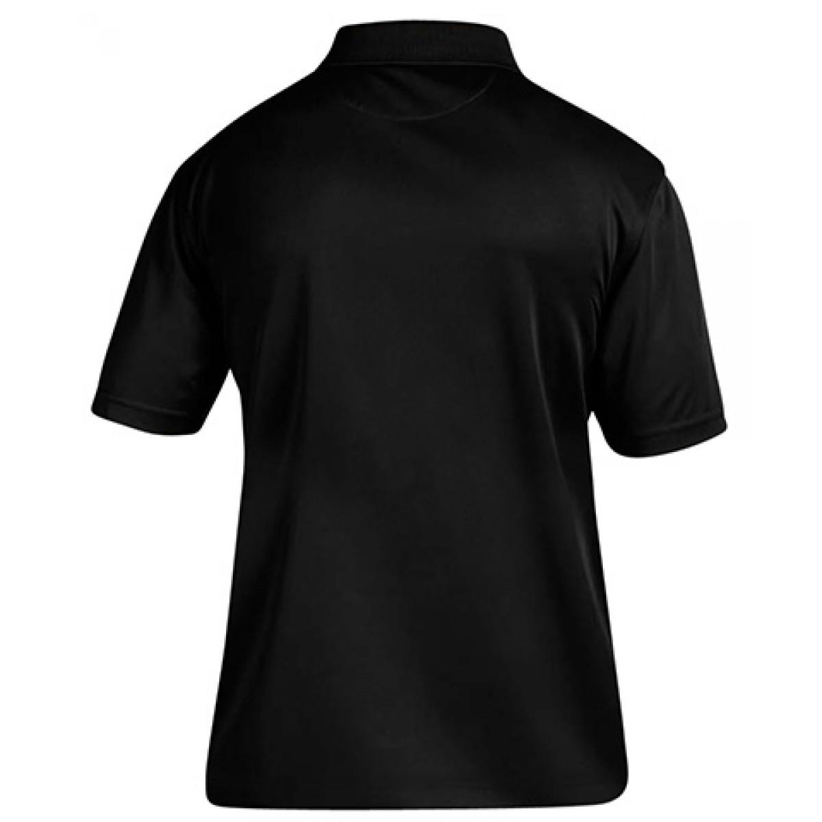Men's 4 oz. Polytech Polo-Black-3XL