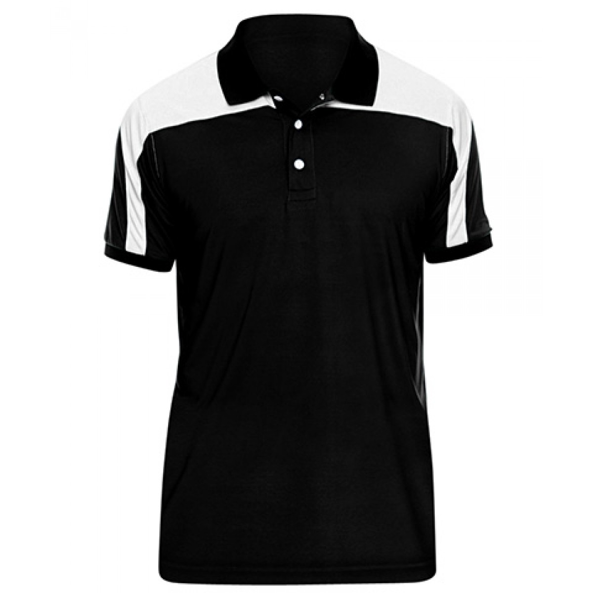 Men's Victor Performance Polo-Black-M