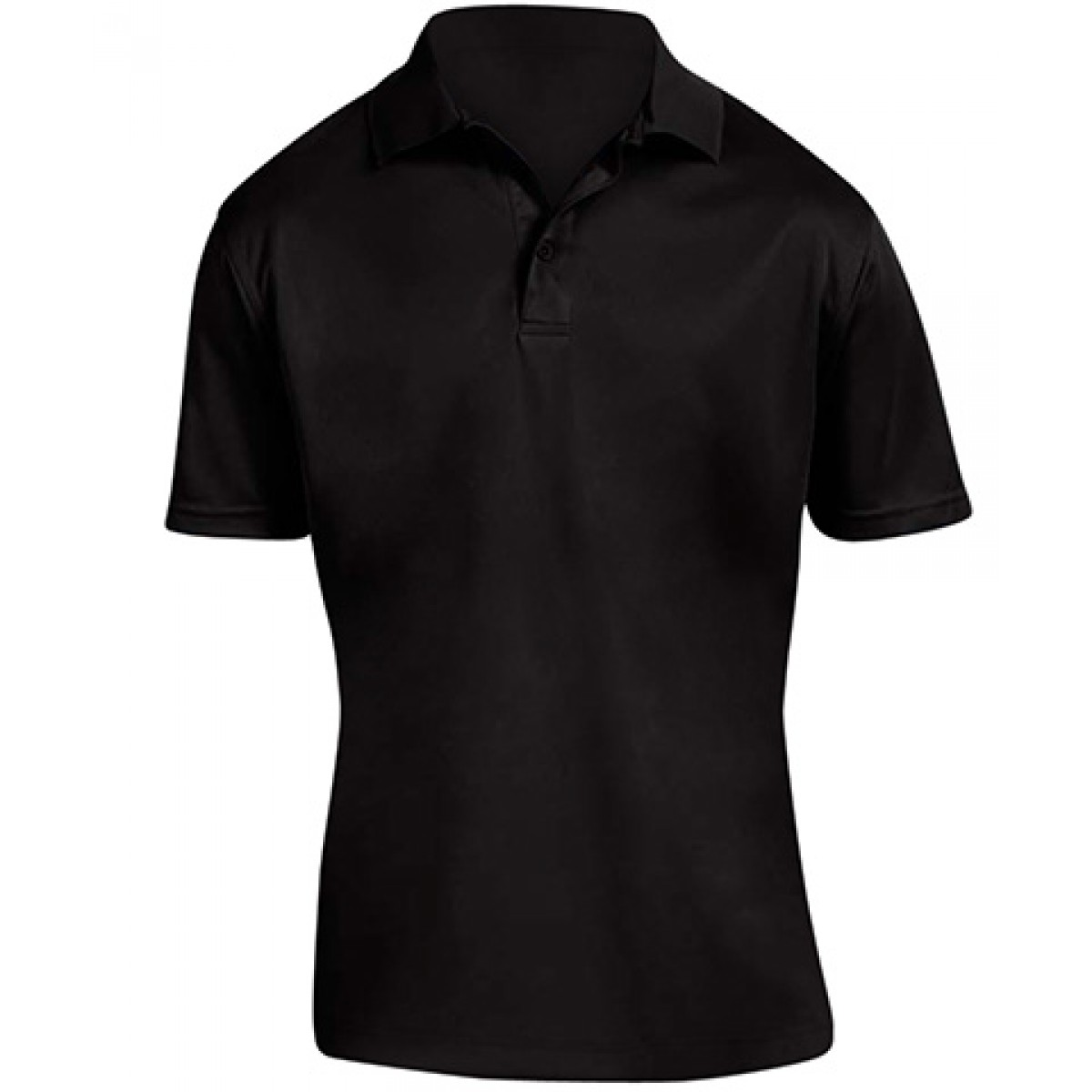 Men's 4 oz. Polytech Polo-Black-L