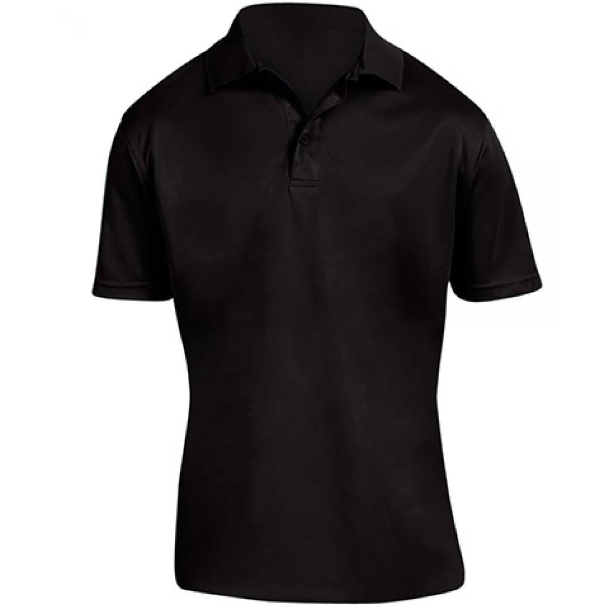 Men's 4 oz. Polytech Polo-Black-L