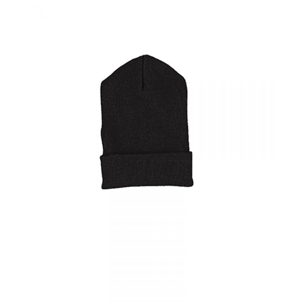 Yupoong Cuffed Knit Cap-Black-M