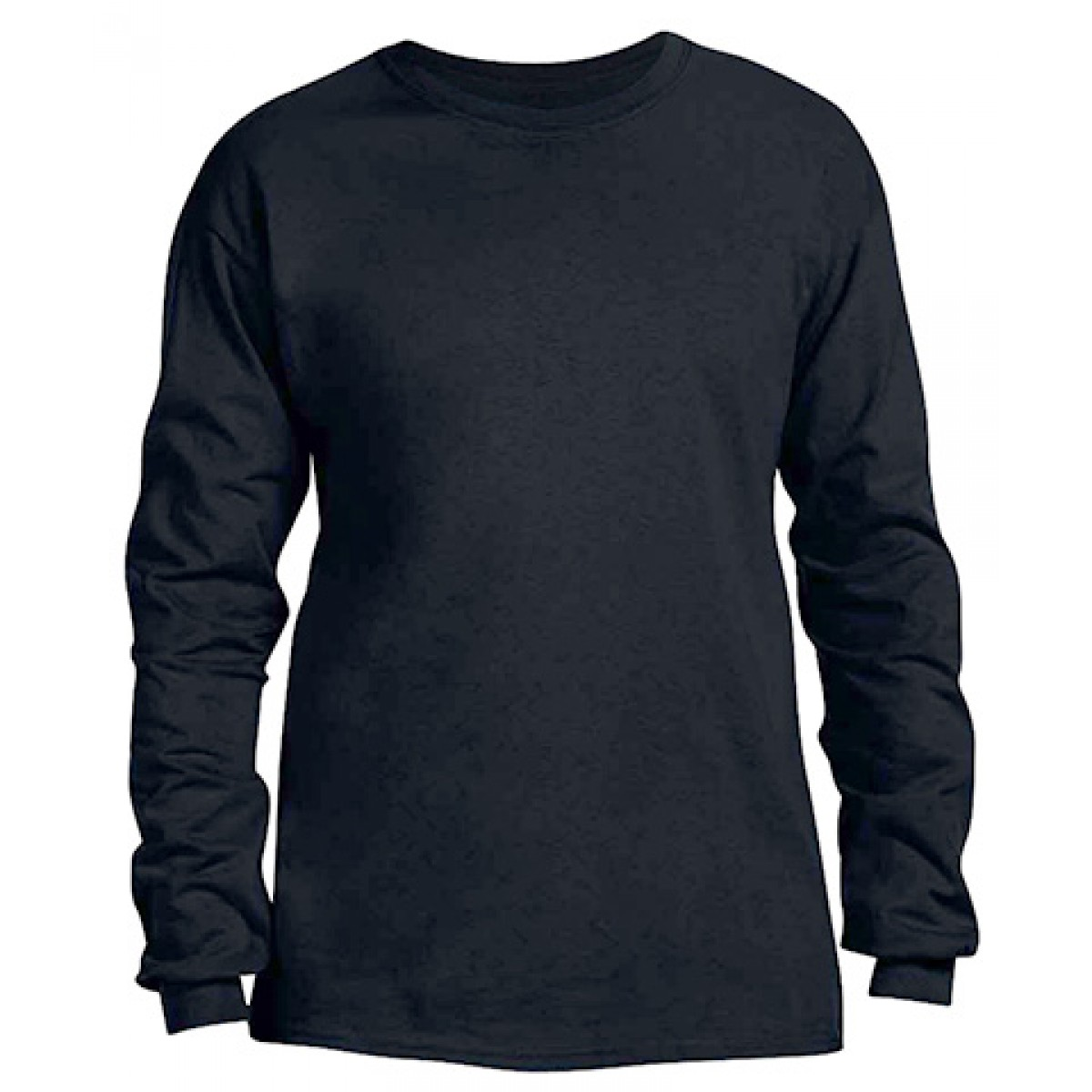 Heavy Cotton Long-Sleeve Adidas Shirt-Black-S