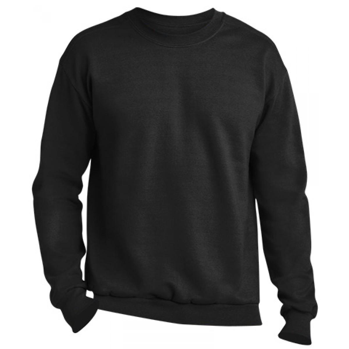 Crewneck Sweater -Black-L