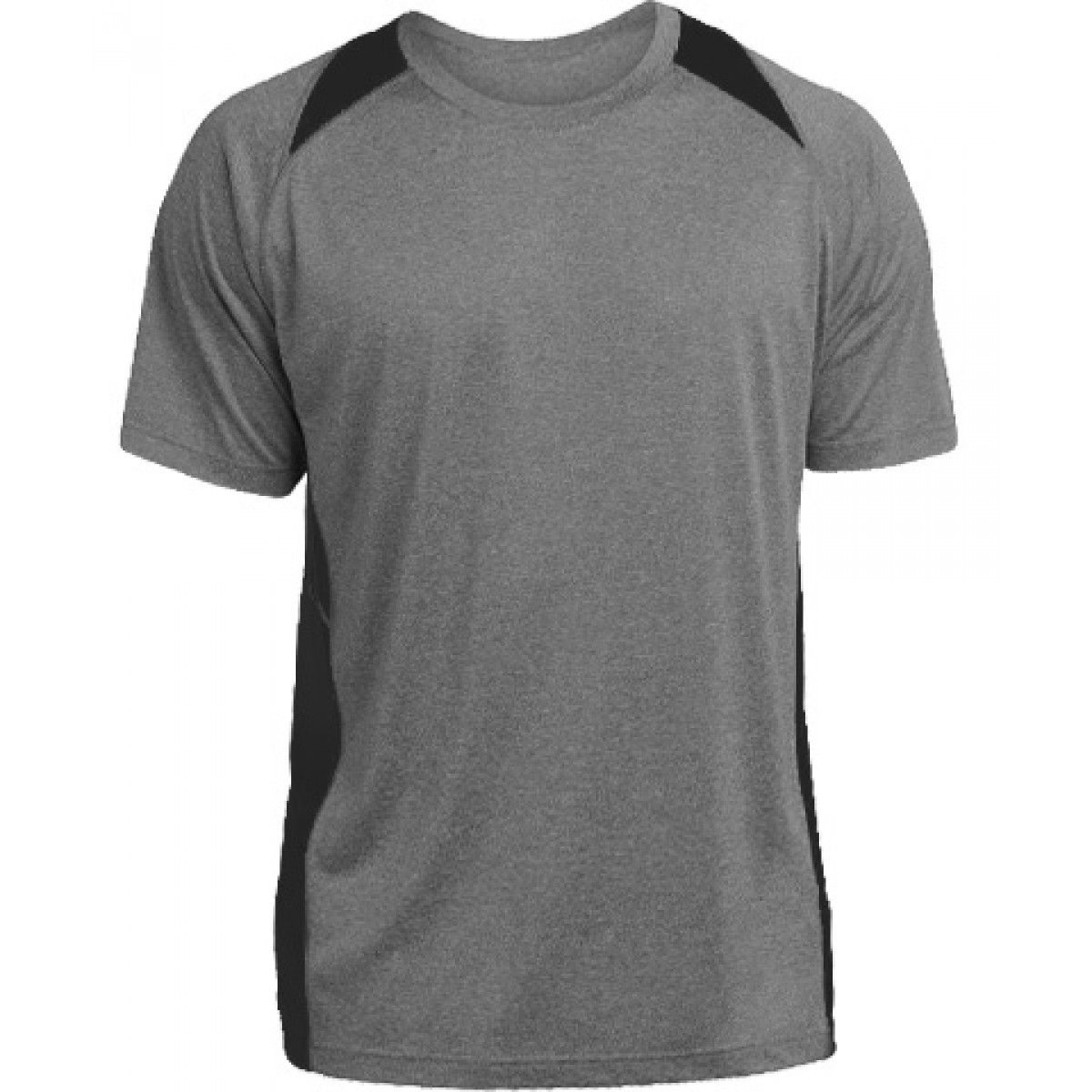 Heather Colorblock Contender™ Tee-Gray/Black-YM