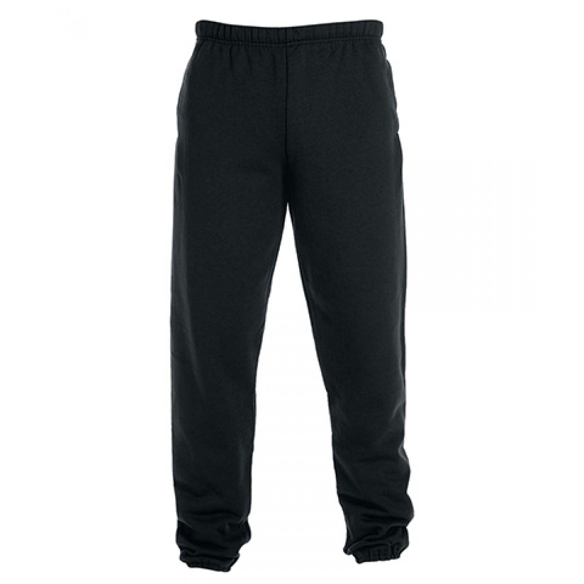 Fleece Pocketed Sweatpants-Black-L