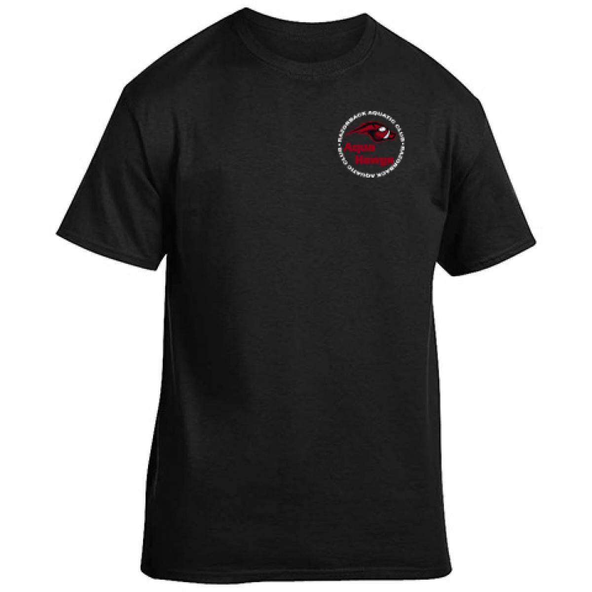 Gildan Cotton Short Sleeve T-Shirt - Black-Black-2XL