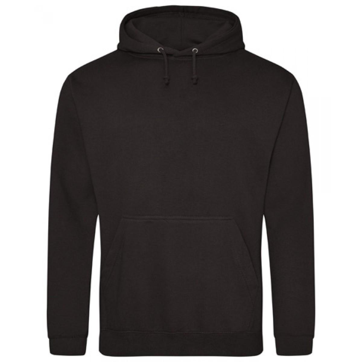 Hooded Sweatshirt 50/50 Heavy Blend-Black-S