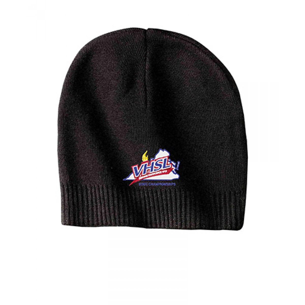 Embroidered 100% Cotton Beanie-Black-OS