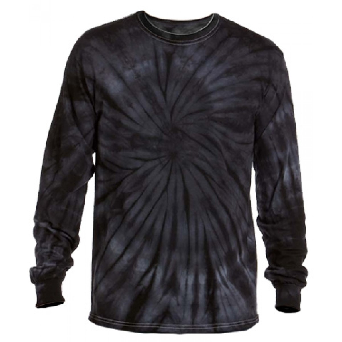 Multi Color Tie-Dye Long Sleeve Shirt -Gray -2XL