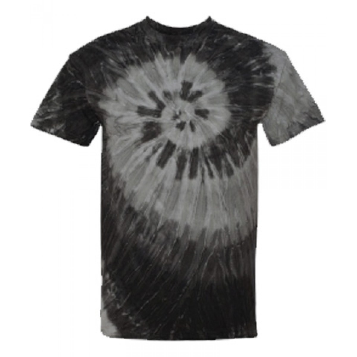 Blue or Black Ripple Tie Dye T-Shirt-White/Black-YL