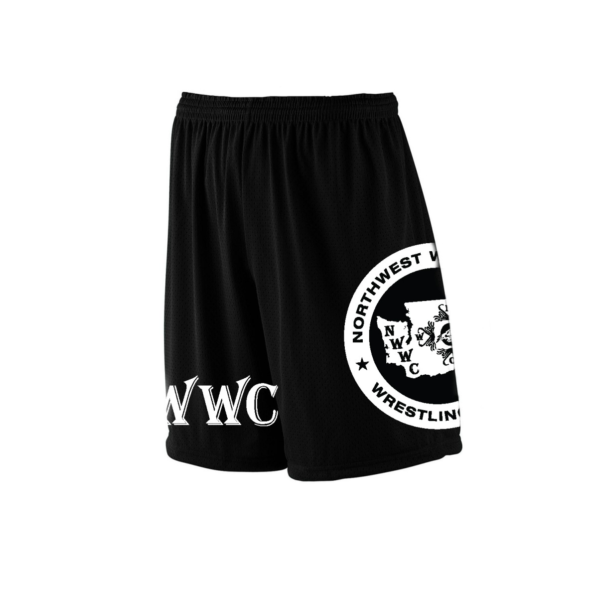 NWWC Black Shorts White Logo-Black-YS