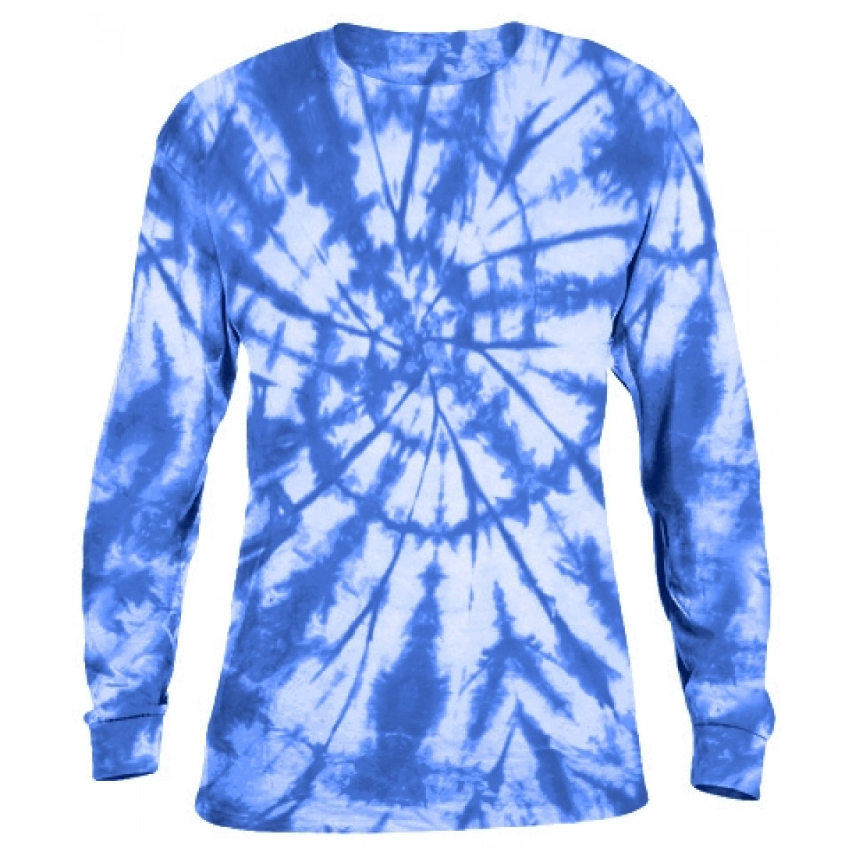Tie-Dye Long Sleeve Shirt -Blue-S
