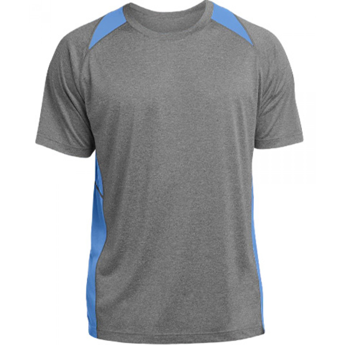 Heather Colorblock Contender™ Tee-Blue-XL