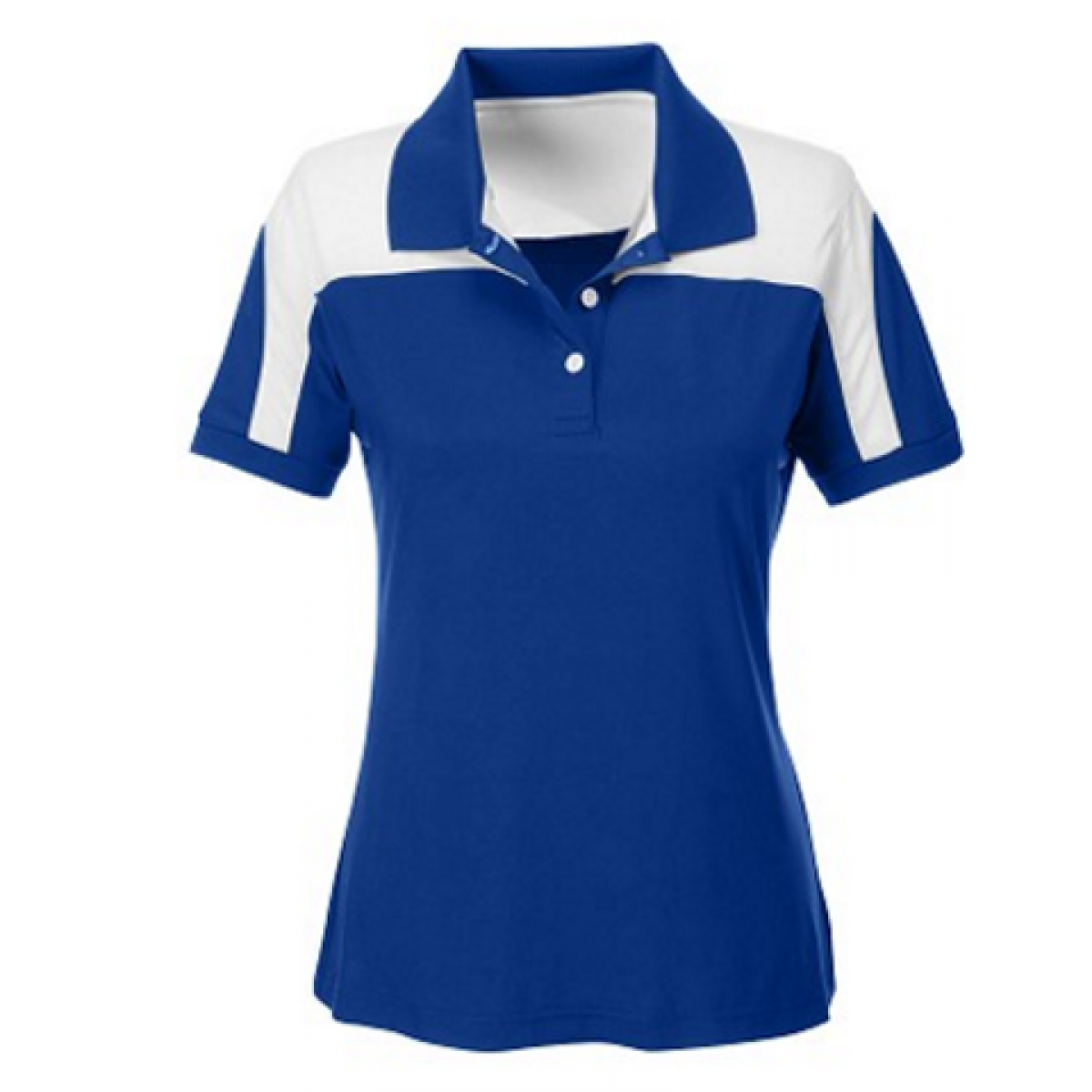 Womens Victor Performance Polo-Blue-L