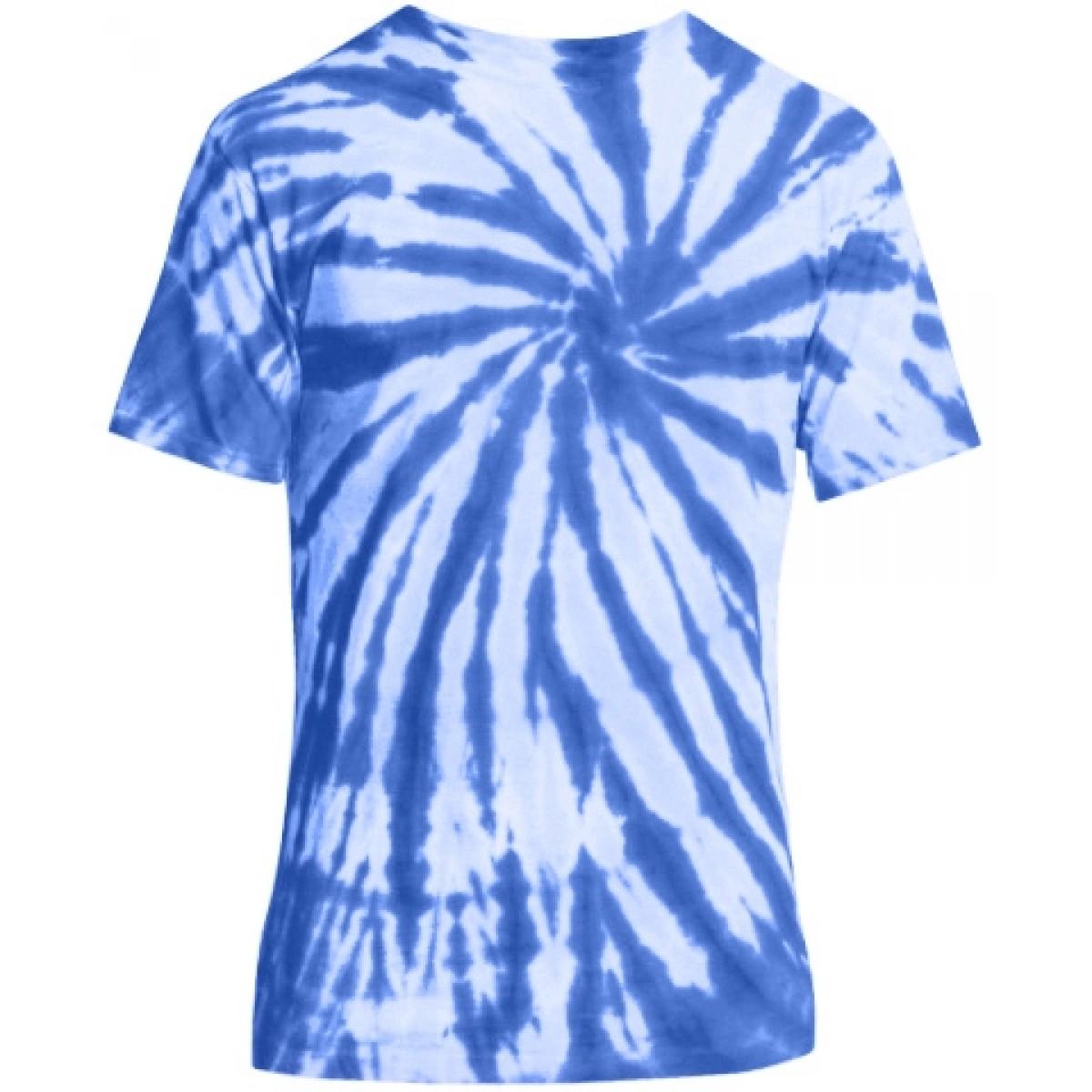 Essential Tie-Dye Tee-Blue-XL