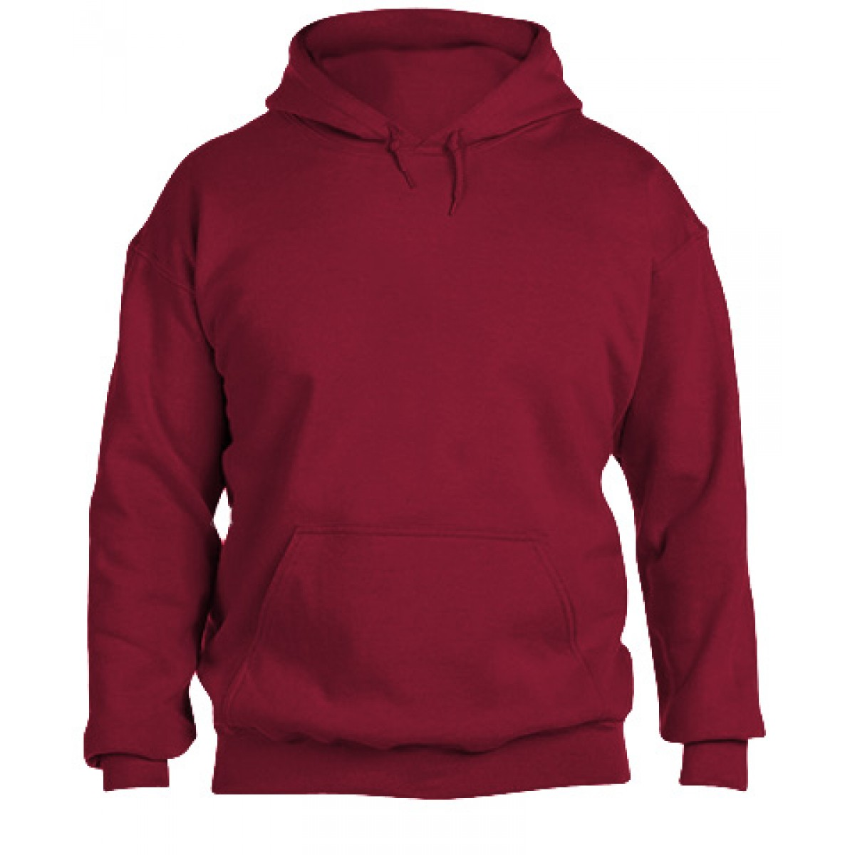 Hooded Sweatshirt 50/50 Heavy Blend -Cardinal Red-L