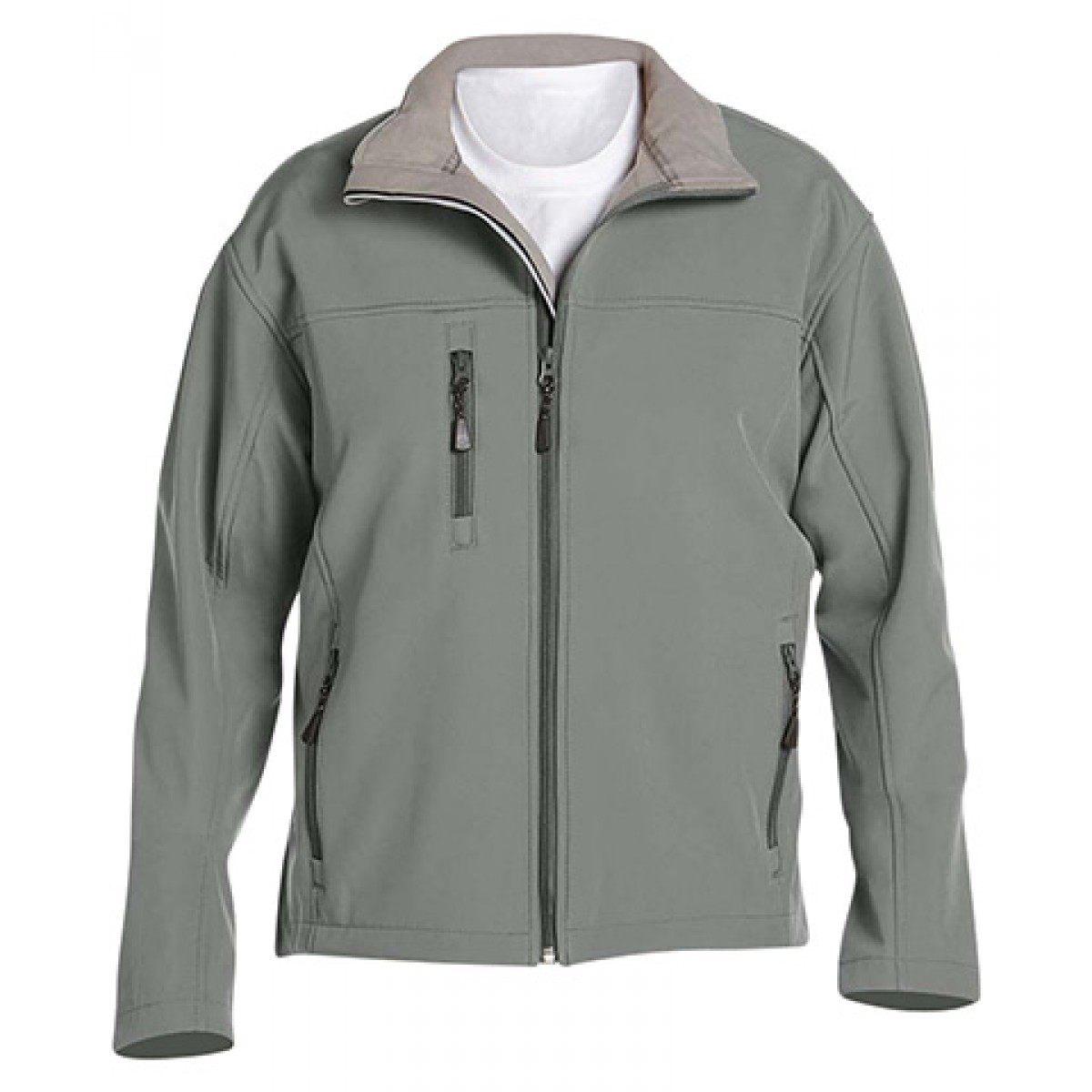 Men's Soft Shell Jacket-Charocal-3XL