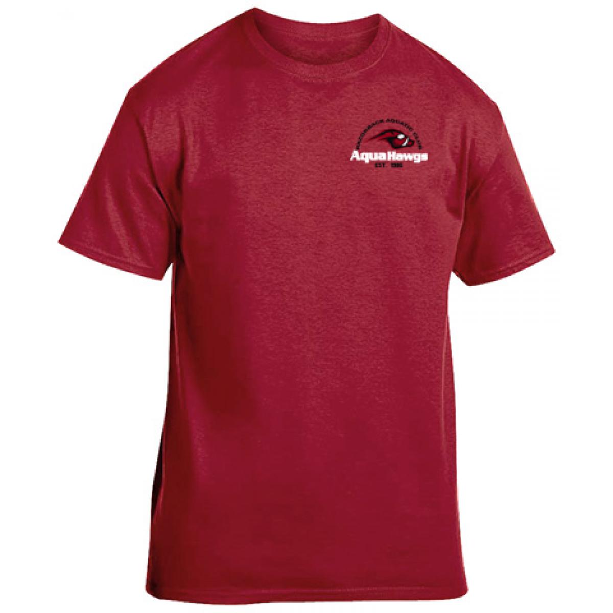 Gildan Cotton Short Sleeve T-Shirt - Cardinal Red-Cardinal Red-L