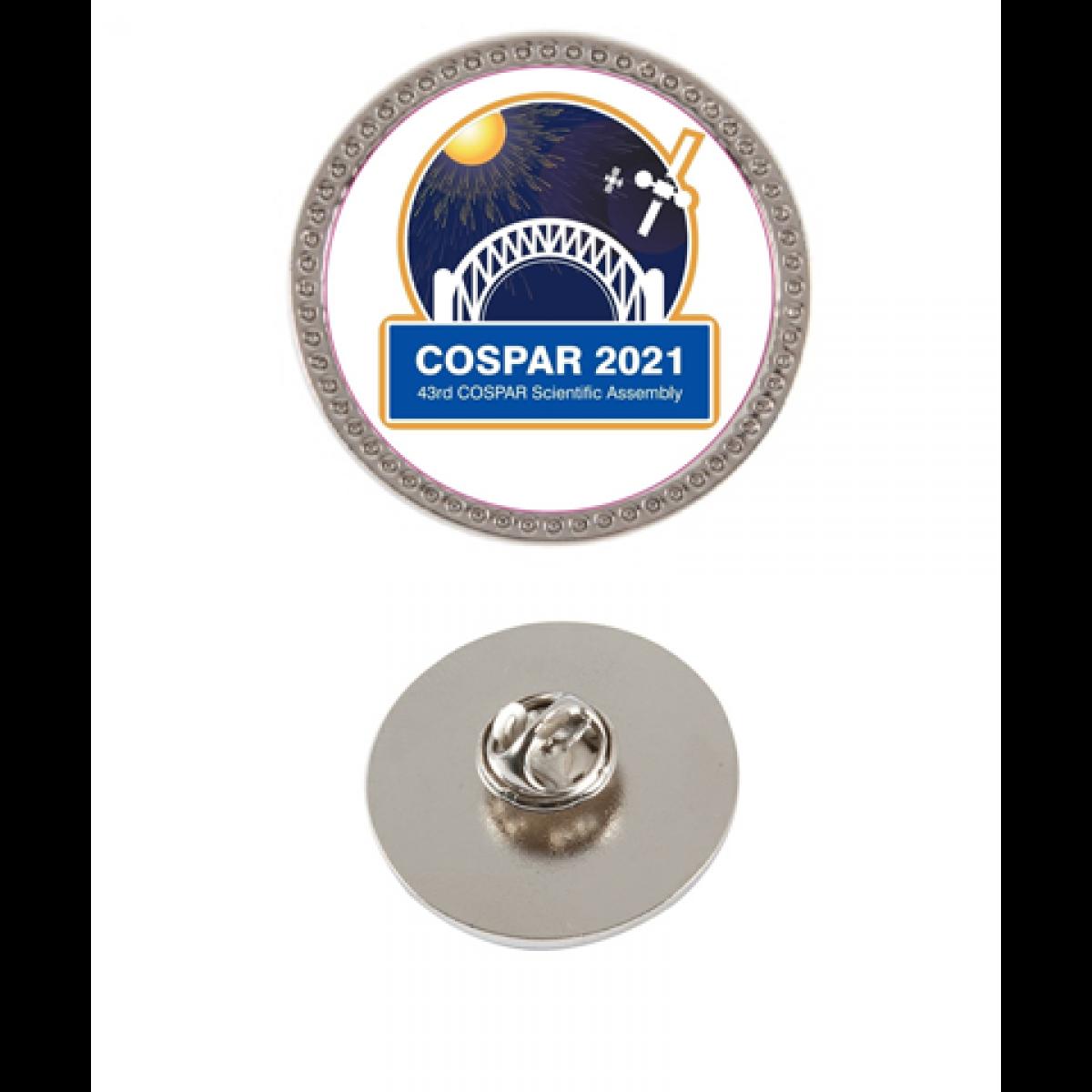 2021 COSPAR lapel pin
