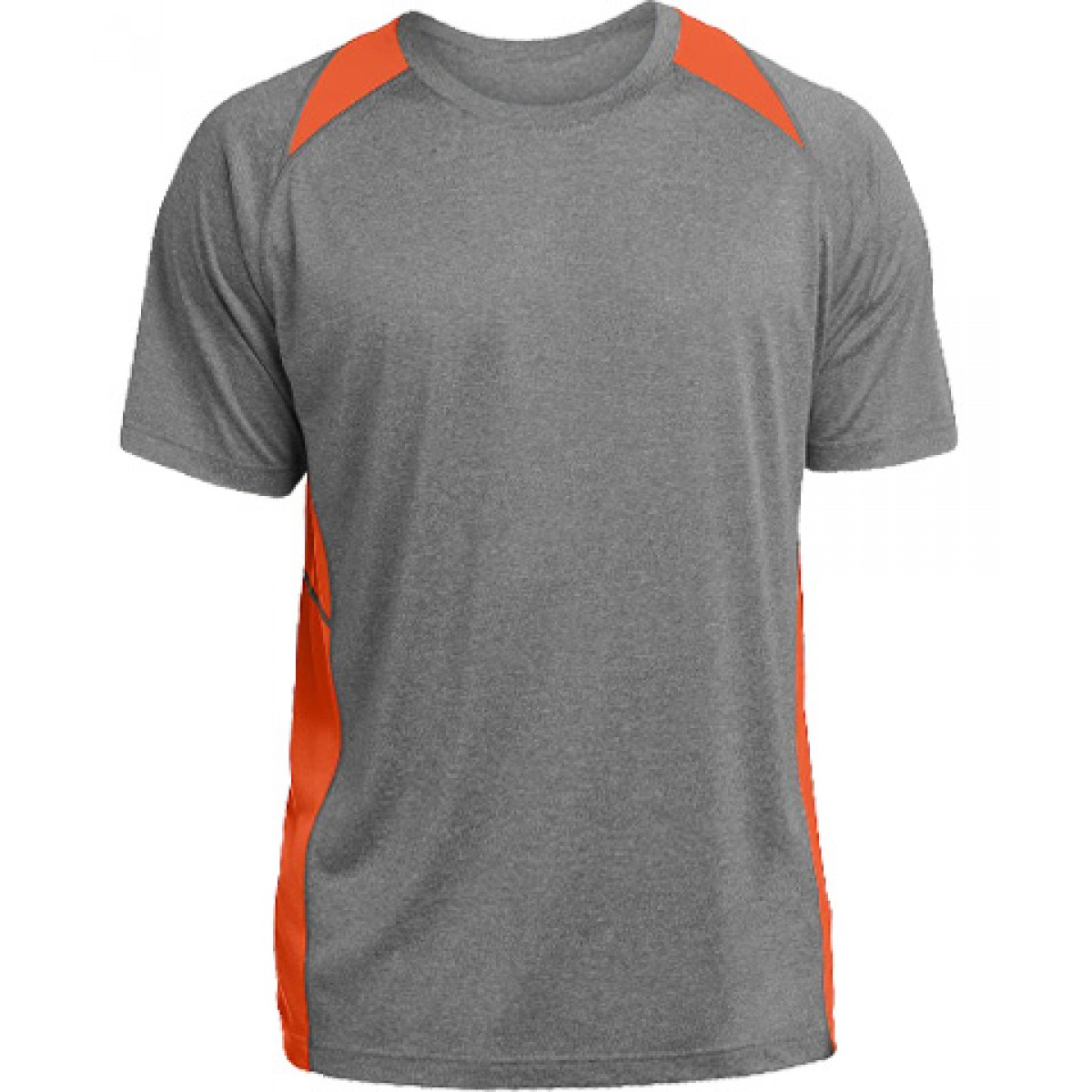 Heather Colorblock Contender™ Tee-Orange-S
