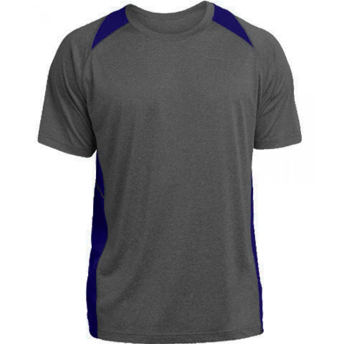 Heather Colorblock Contender™ Tee-Royal Blue-XS