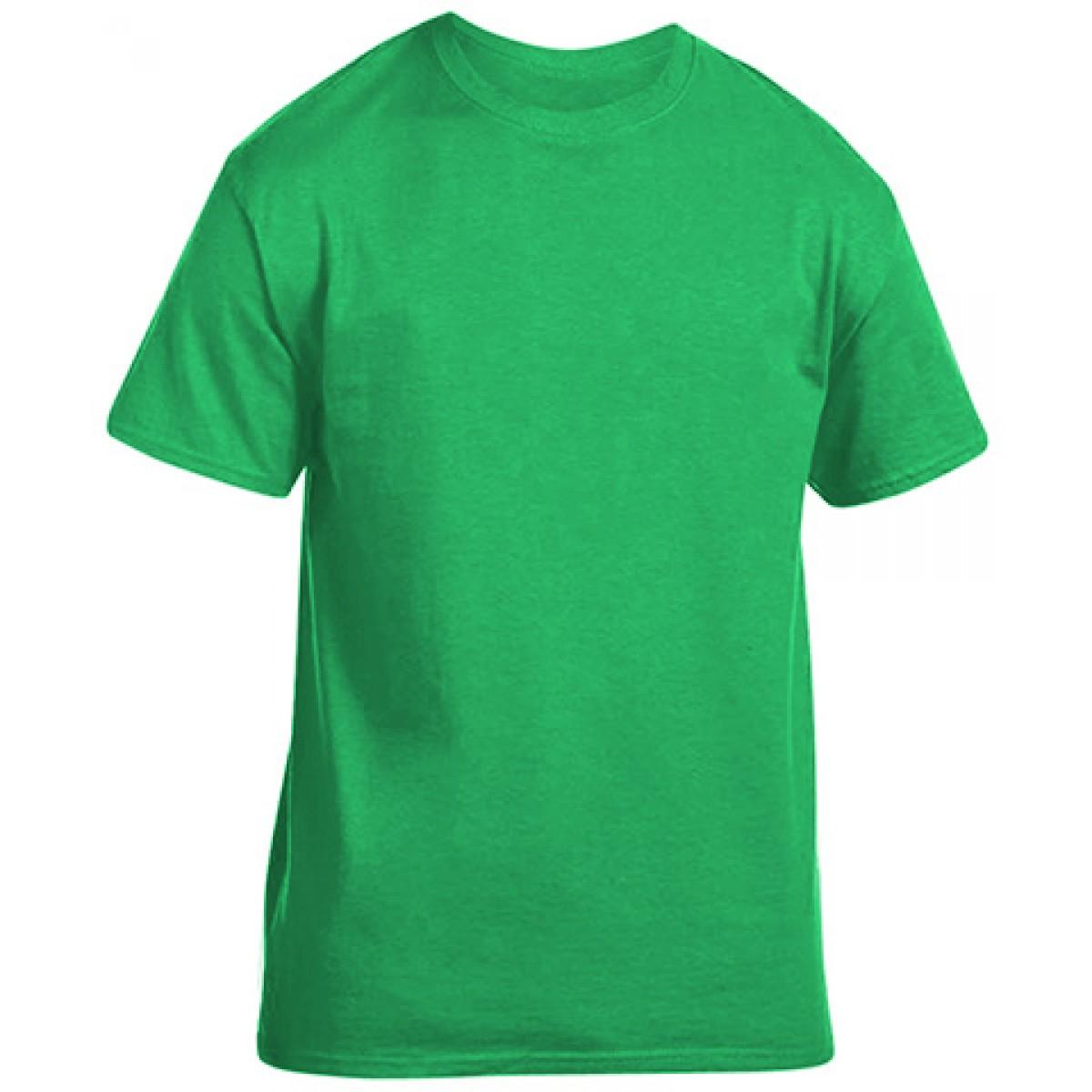 Soft 100% Cotton T-Shirt-Electric Green -L