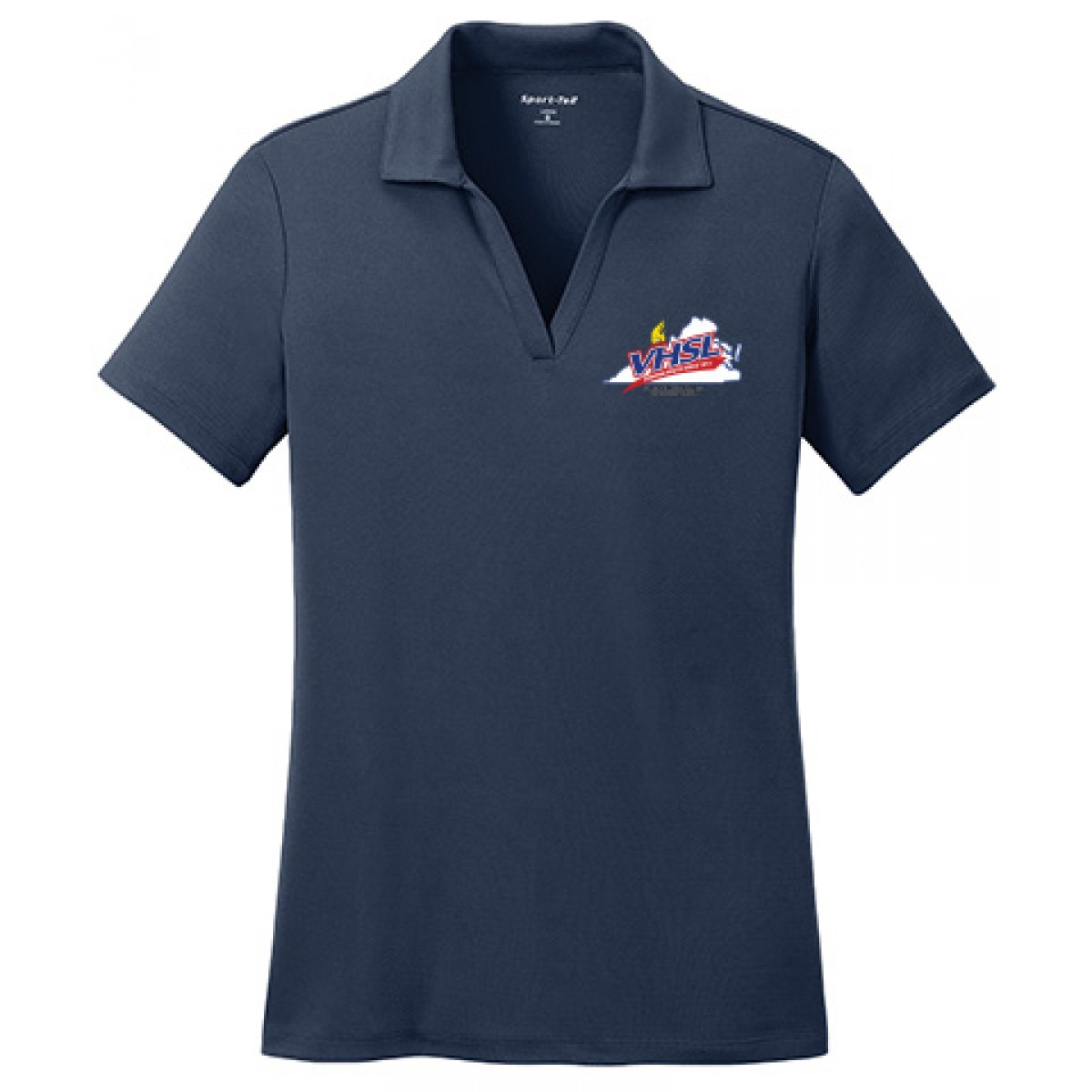 RacerMesh Embroidered Ladies Polo-Navy-M