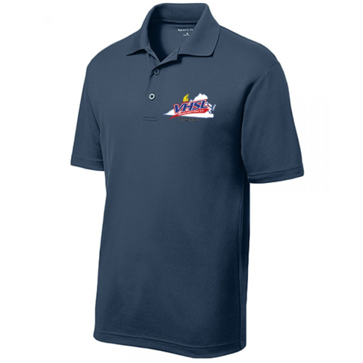 RacerMesh  Embroidered Mens Polo-Navy-XS