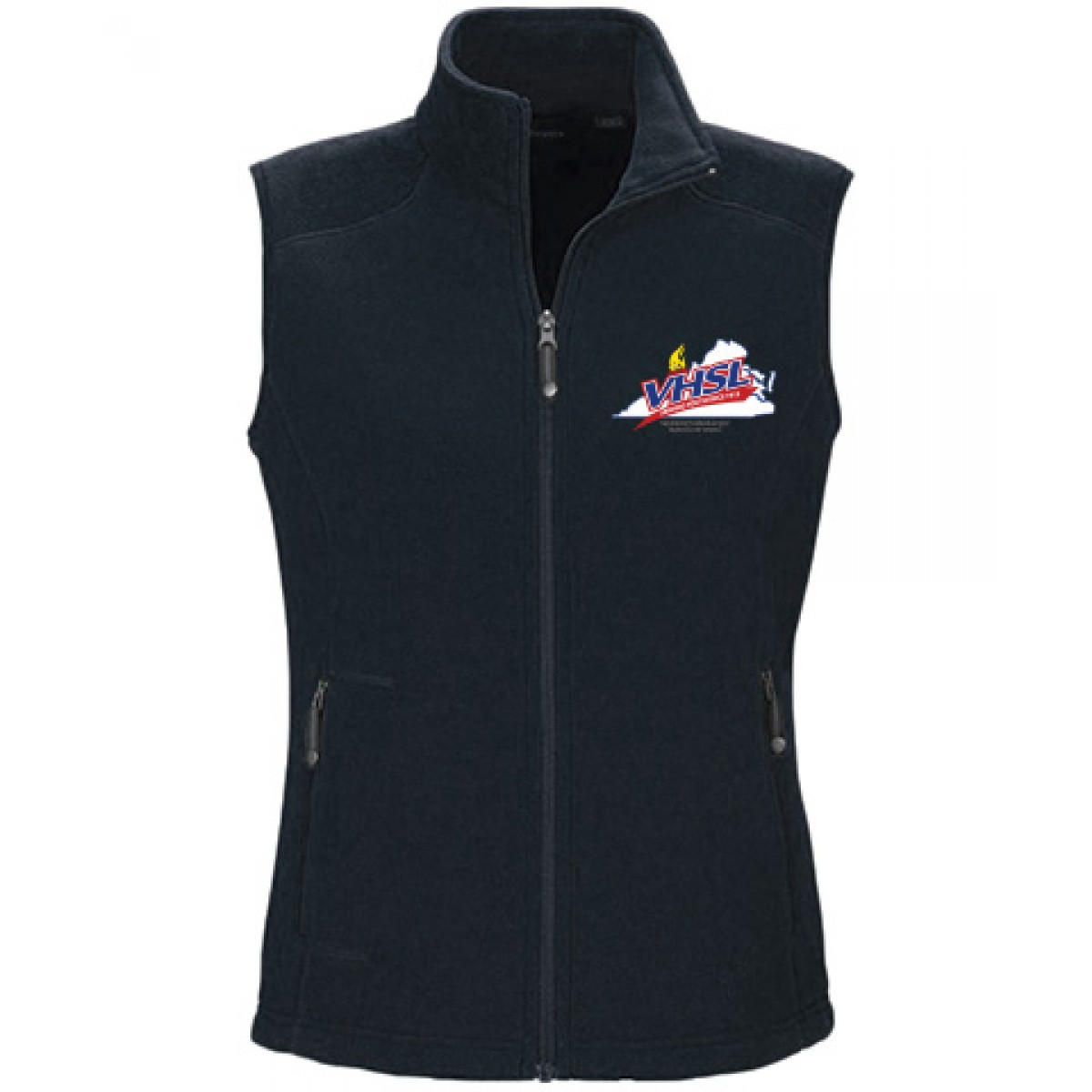 Ash City Embroidered Ladies Vest-Navy-S