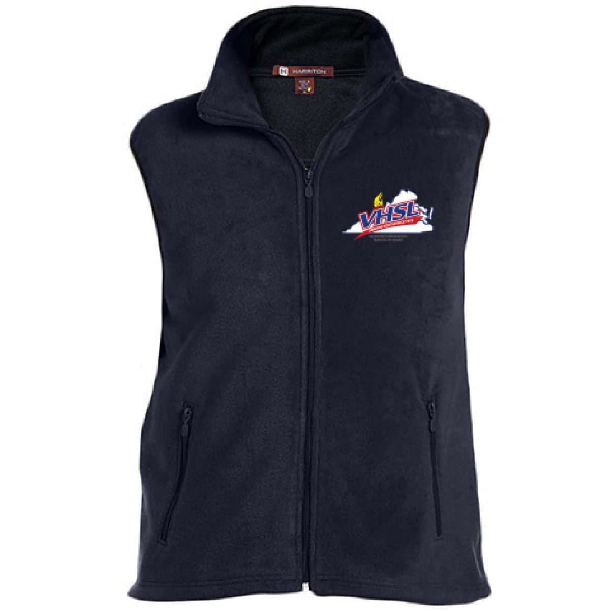 Harriton Embroidered Mens Vest-Navy-L