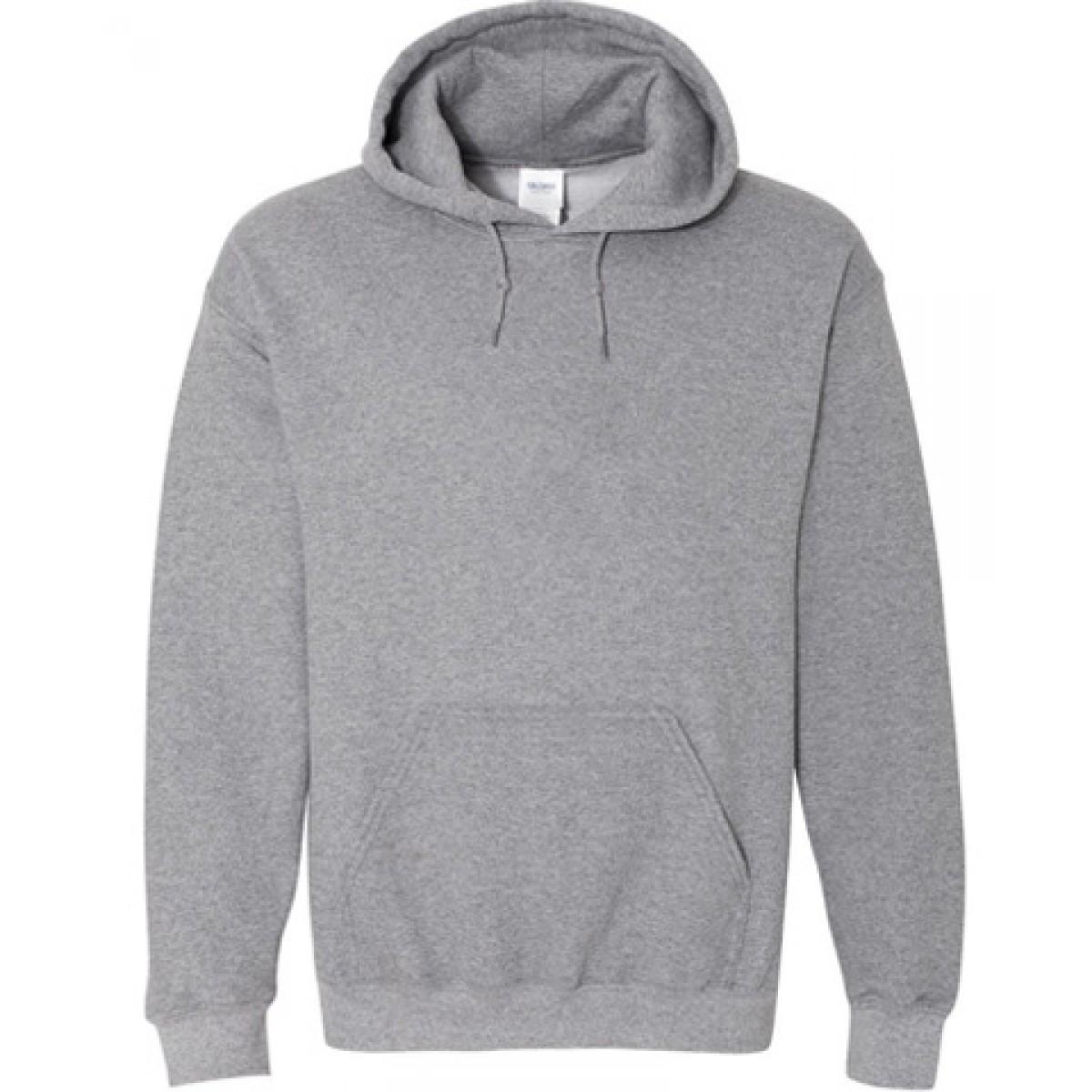 Hooded Sweatshirt 50/50 Heavy Blend-Gray-S