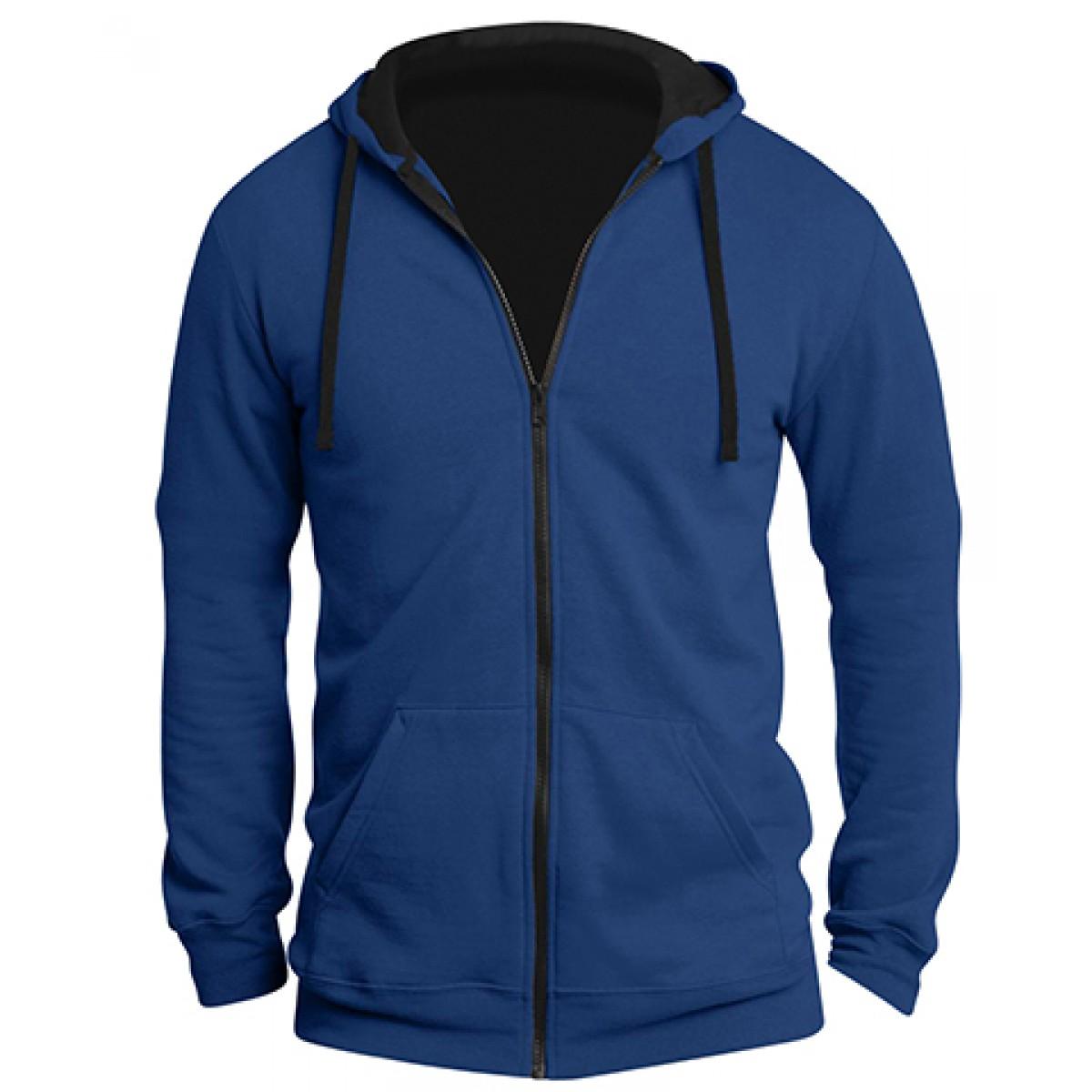 Mens The Concert Fleece™ Full-Zip Hoodie-Royal Blue-XL