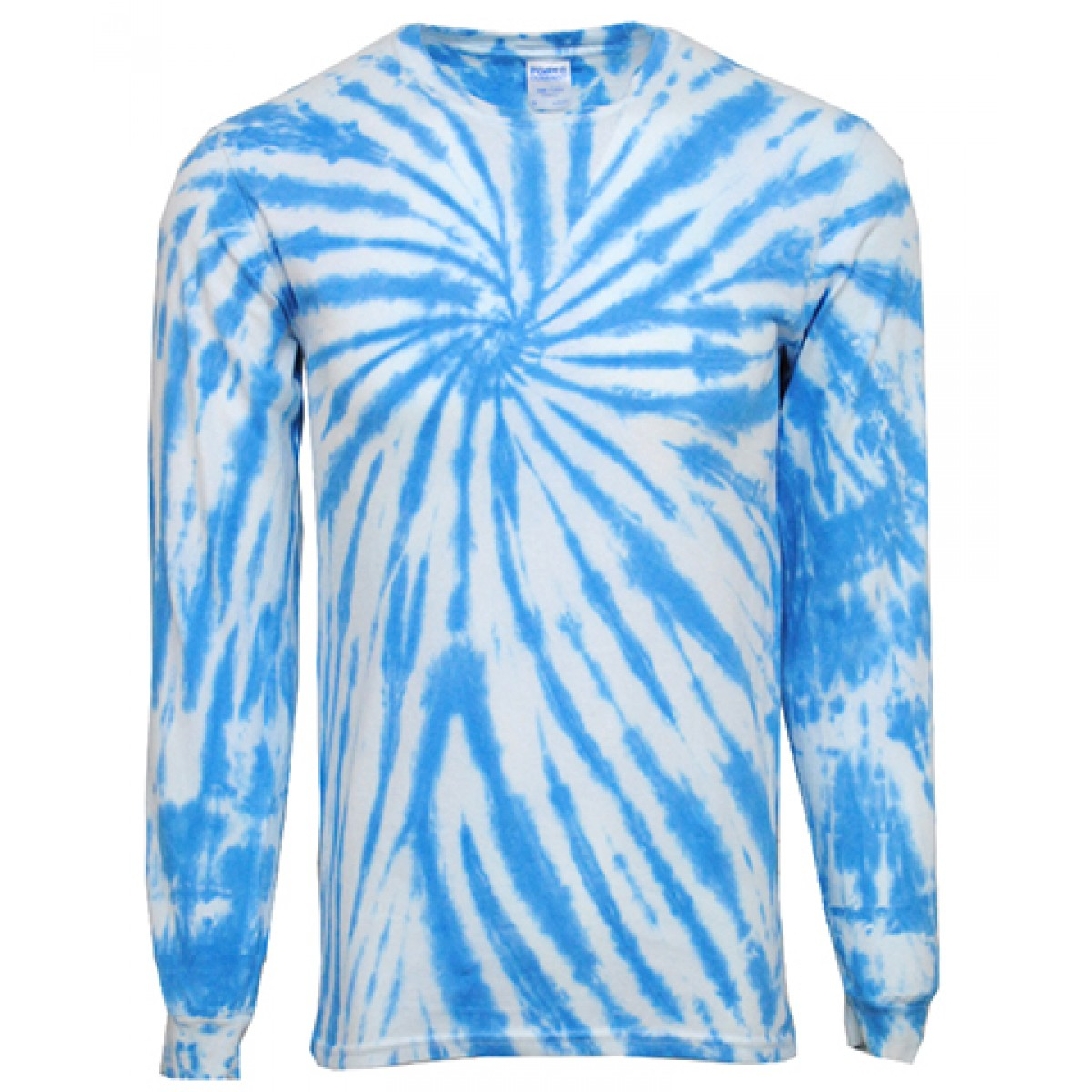 Tie-Dye Long Sleeve Shirts-White/Blue-YM