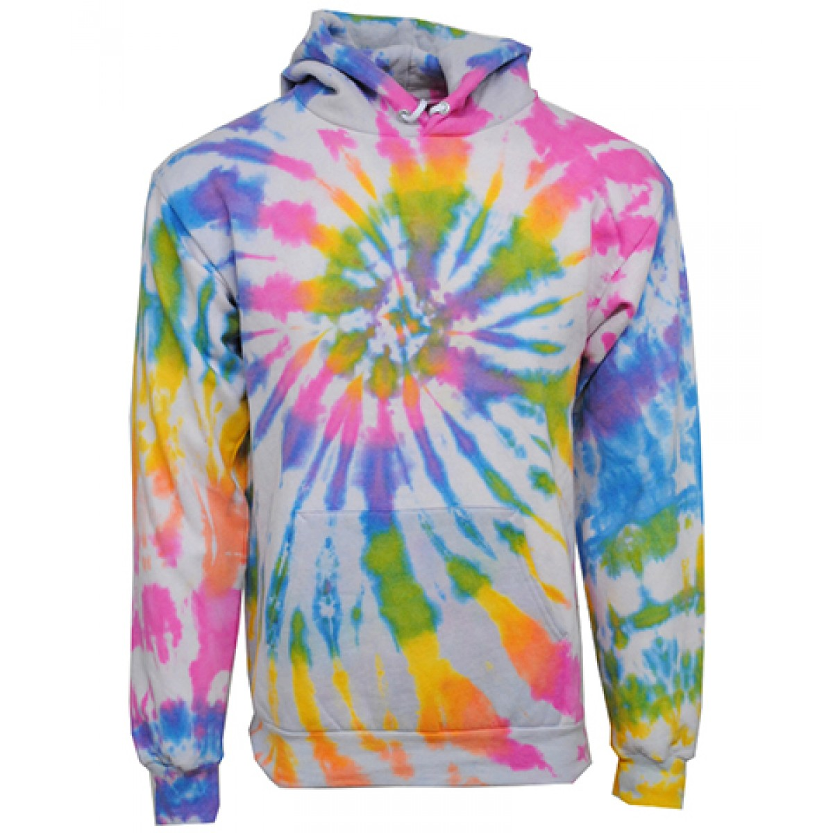 Tie die Hooded Sweatshirts  50/50 Heavy Blend-Multi -YM