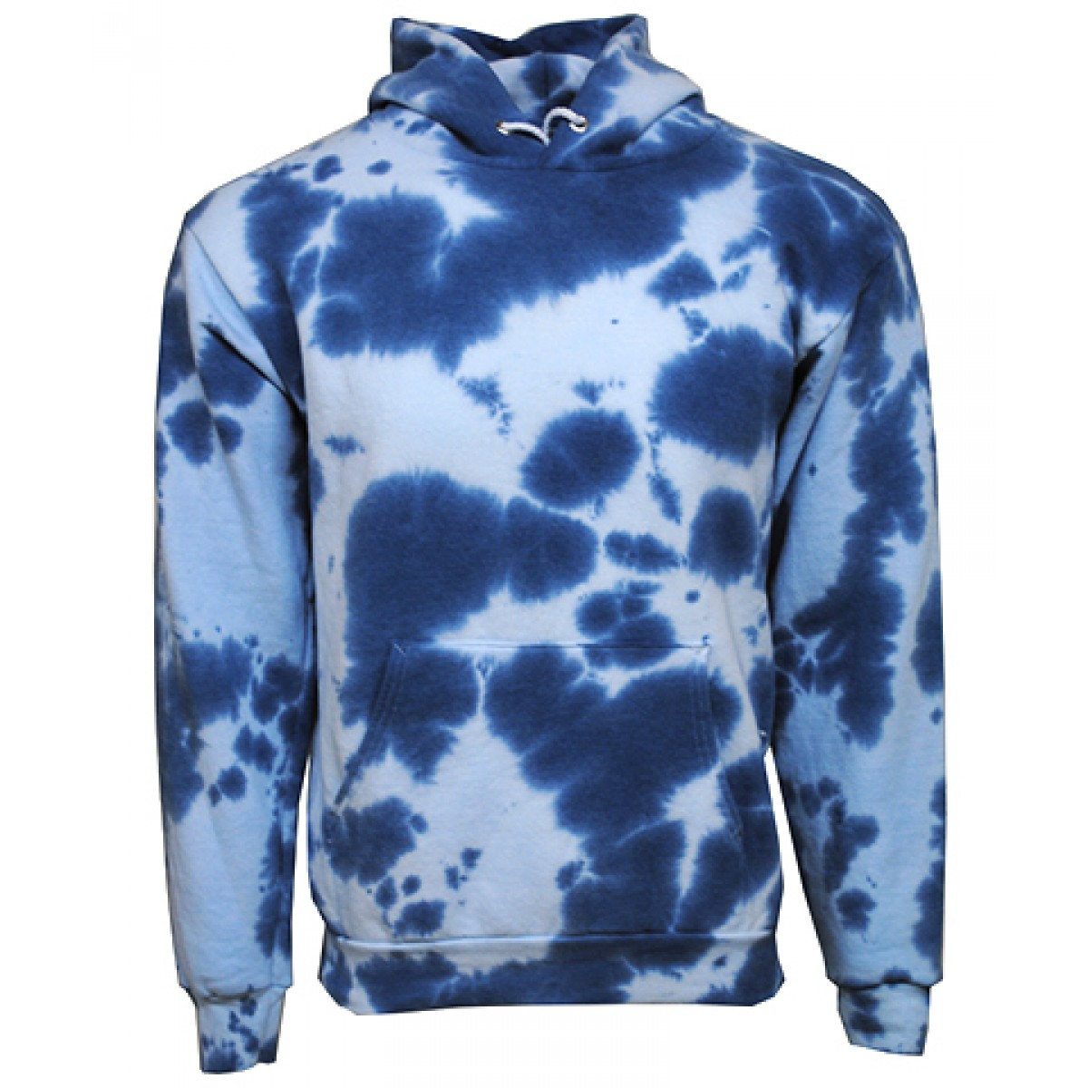 Tie die Hooded Sweatshirts  50/50 Heavy Blend-Light Royal-YM