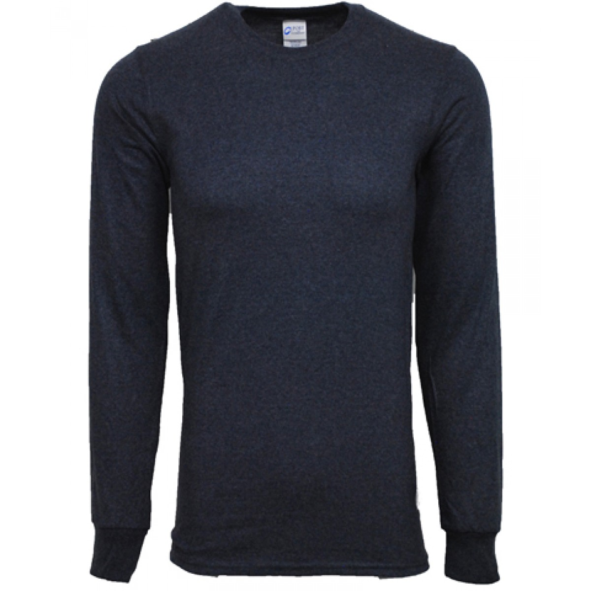 Ultra Cotton Long-Sleeve T-Shirts-Heather Navy-YM