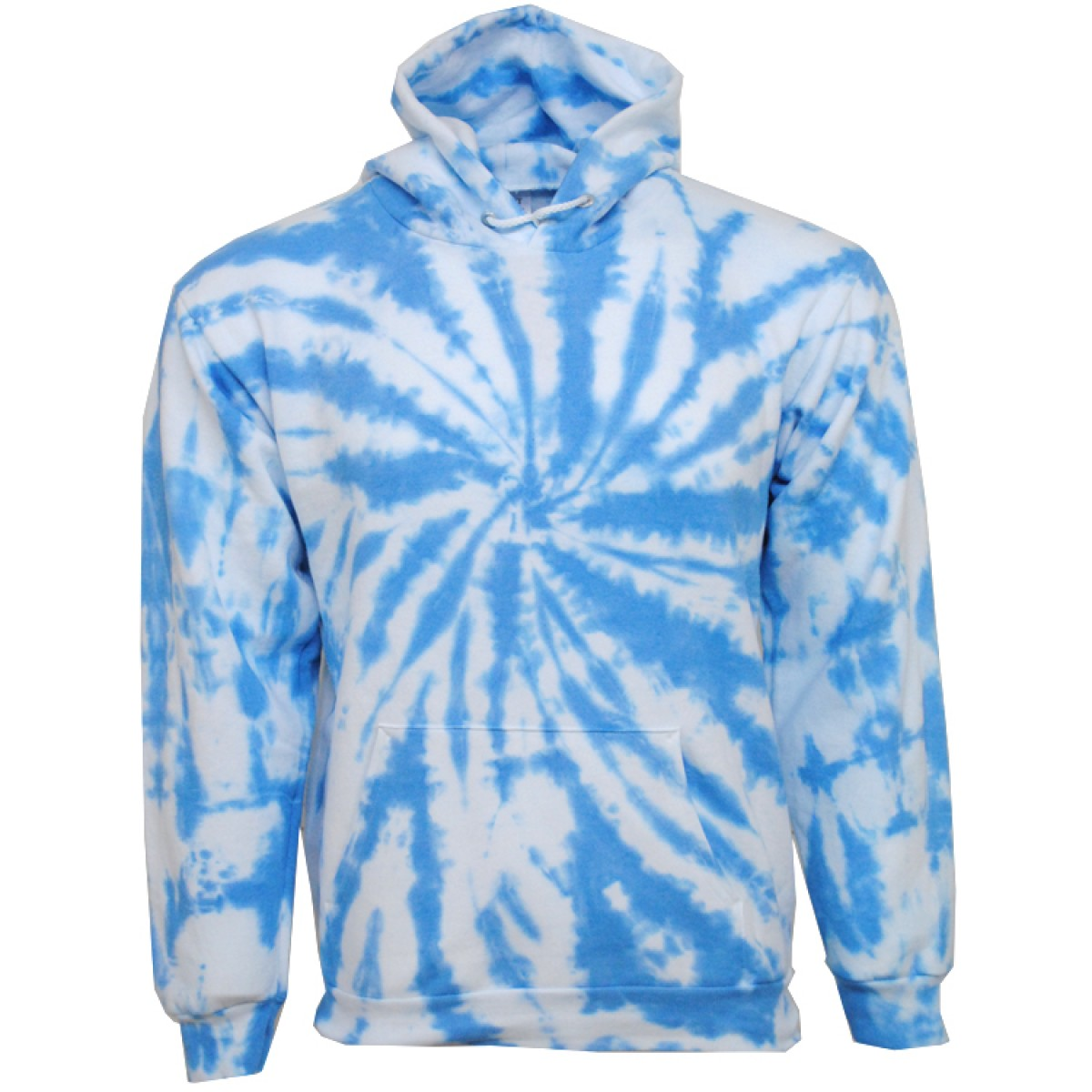 Tie die Blue Hooded Sweatshirt  50/50 Heavy Blend