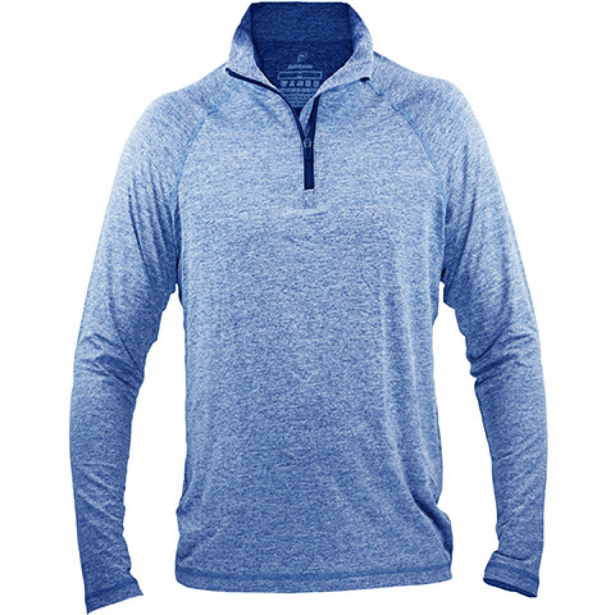 Fine Designs Blend 1/4-Zip Pullover-Blue-L