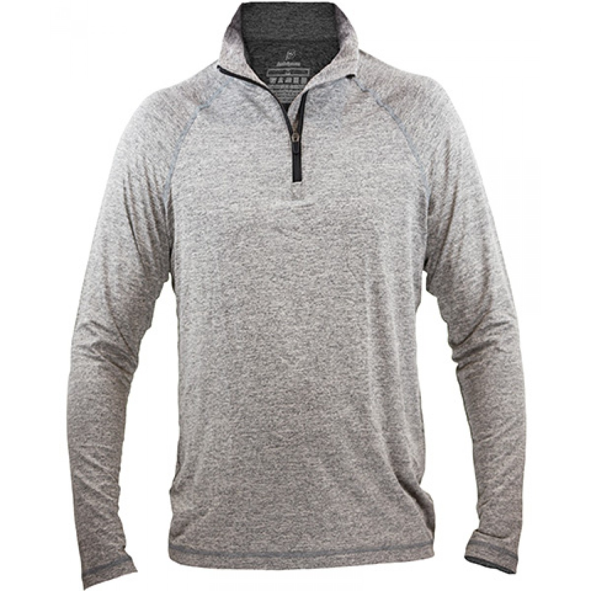 Fine Designs Blend 1/4-Zip Pullover-Gray -L