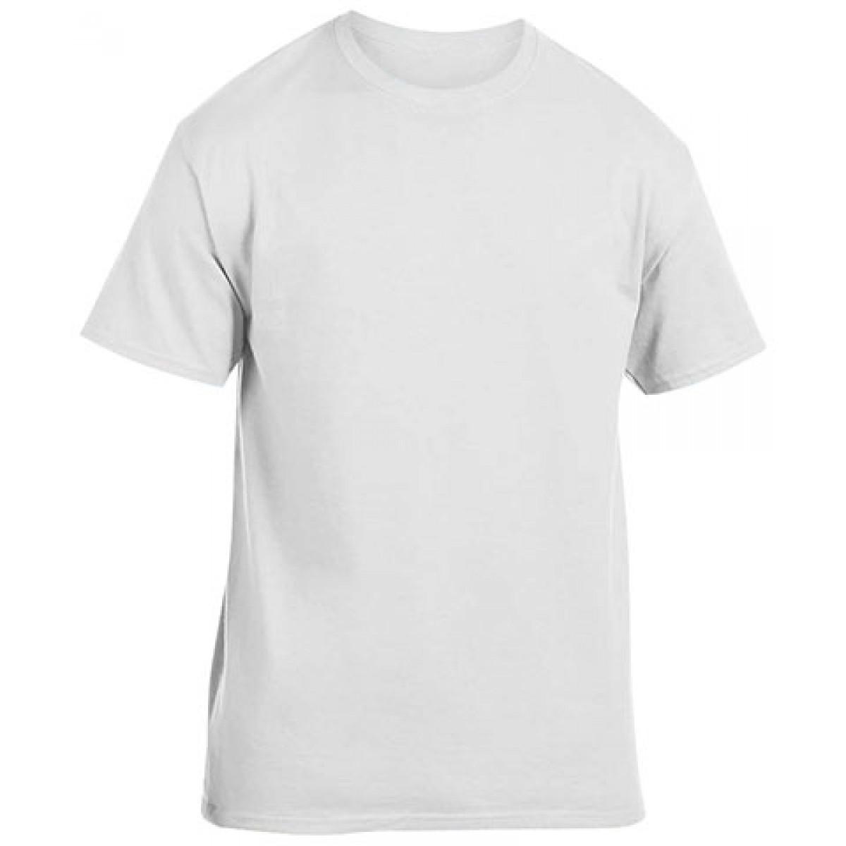 Cotton Short Sleeve T-Shirt-White-XL