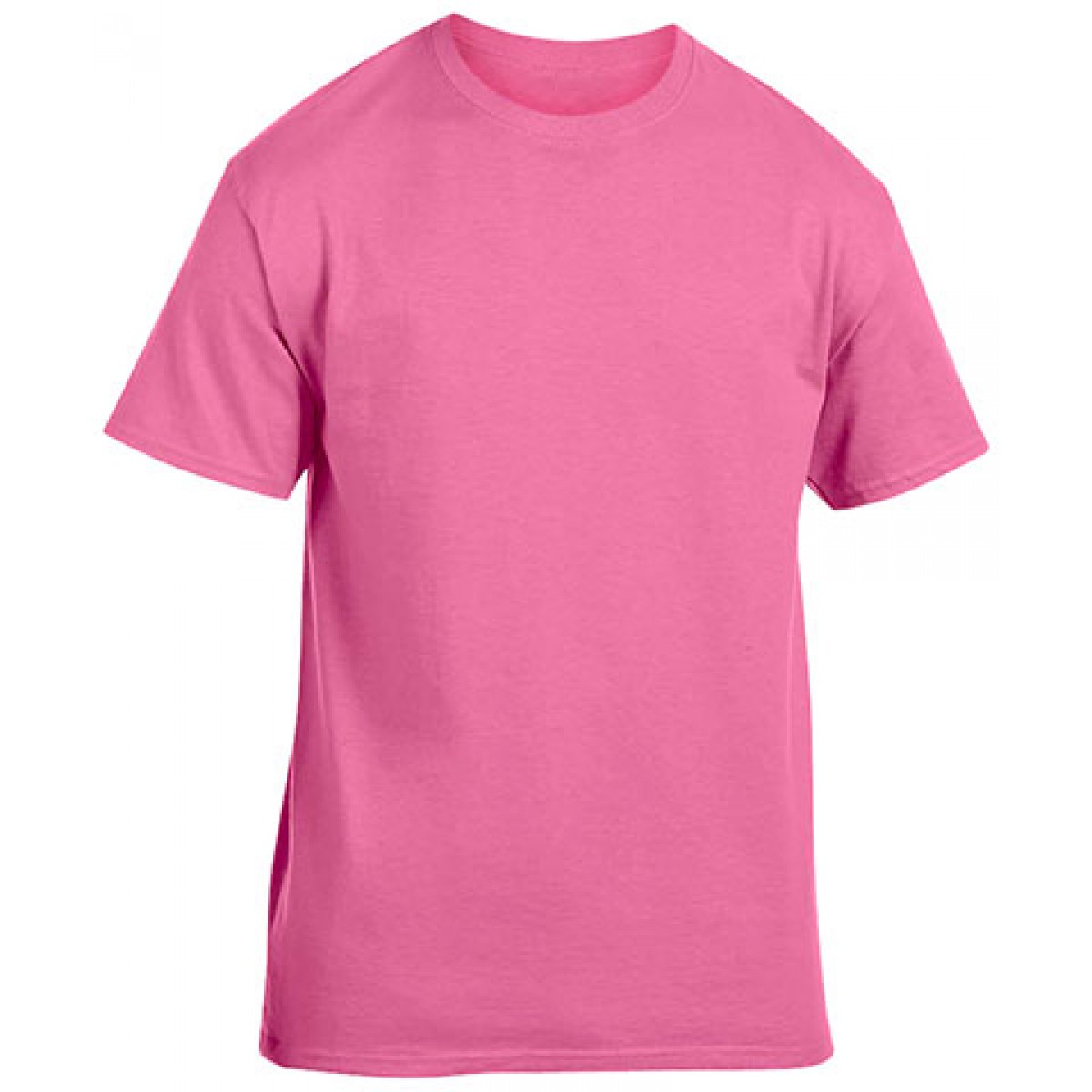 Cotton Short Sleeve T-Shirt-Safety Pink-YL