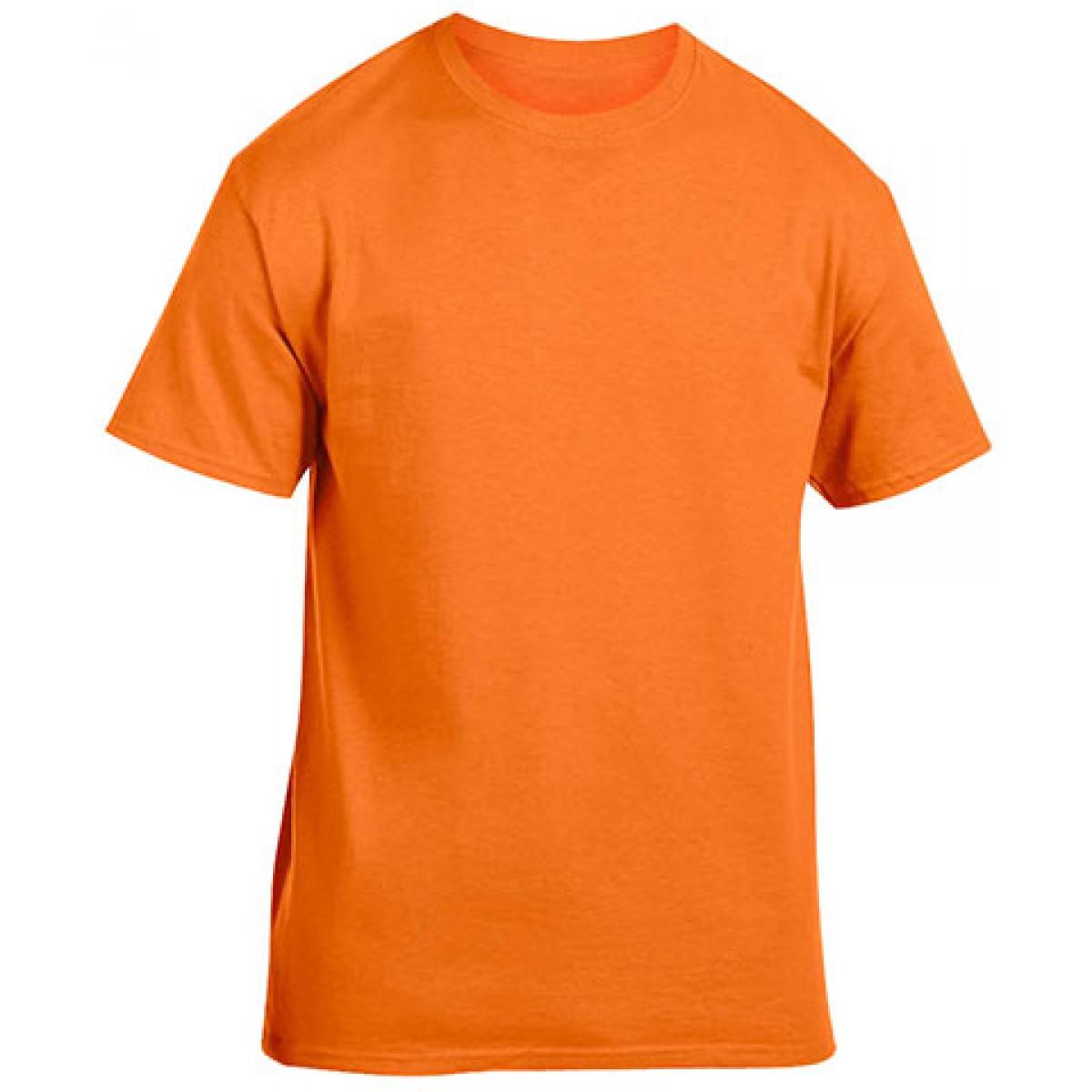 Cotton Short Sleeve T-Shirt-Safety Orange-YL