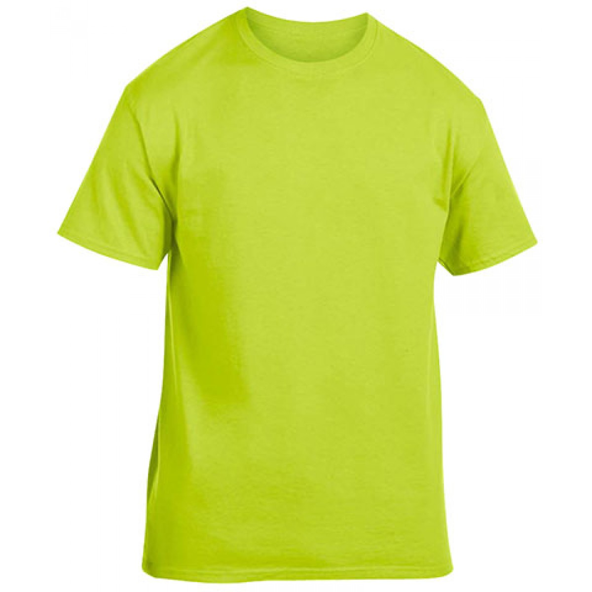 Cotton Short Sleeve T-Shirt-Safety Green-YL